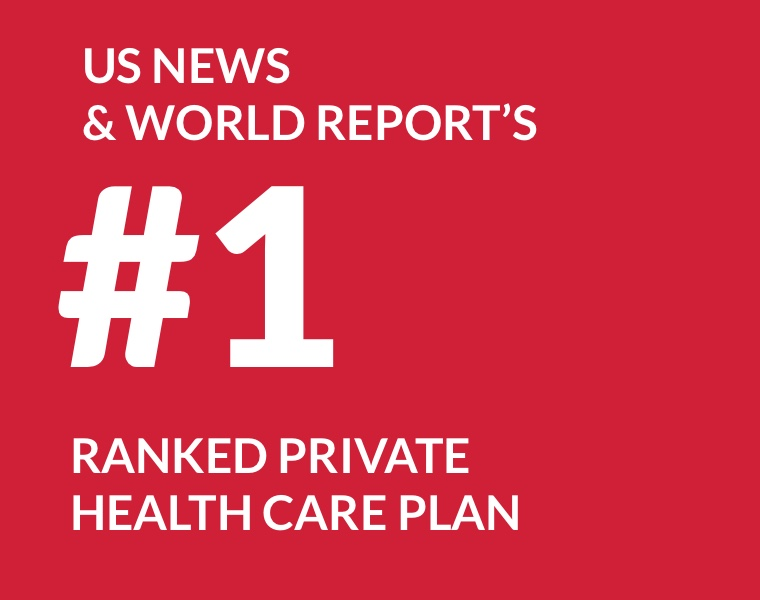 US news and world report's #1 ranked private health care plan