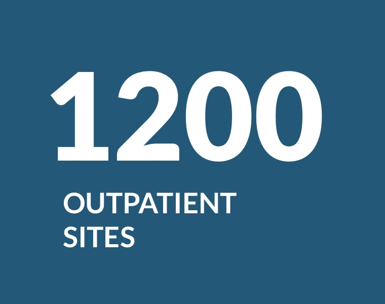 1200 outpatient sites