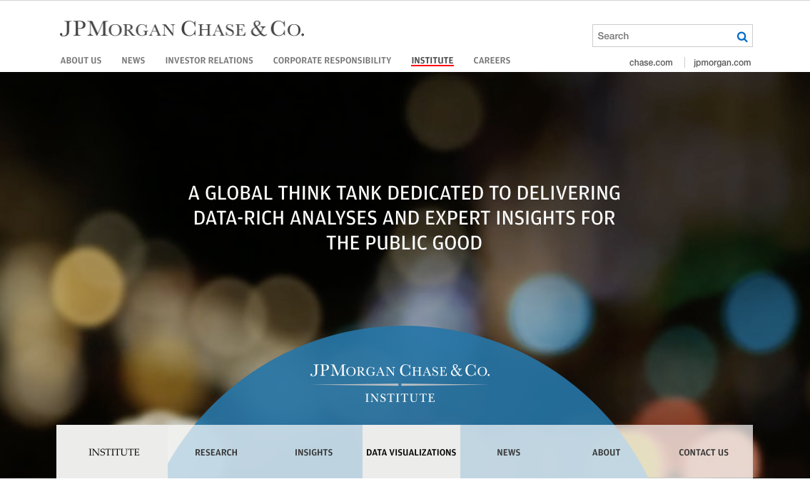 JP Morgan Chase Institute Website